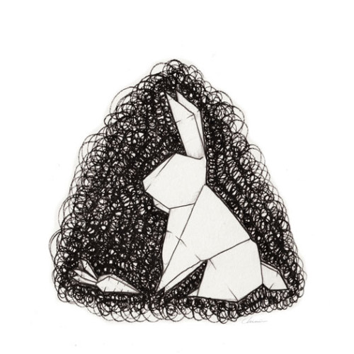 Scribbled-Origami-rabbit-bunny-carrot