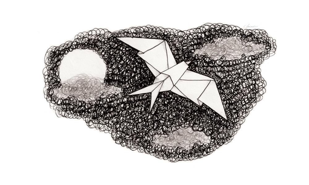 Scribbled-Origami-swallow-bird