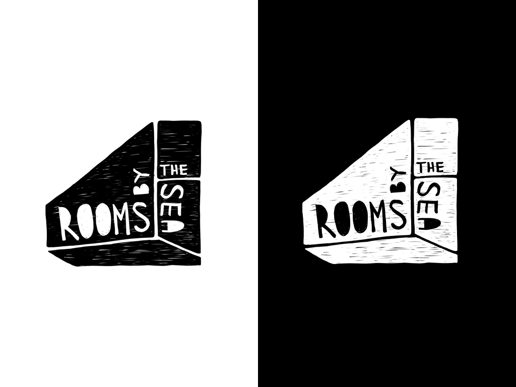 rooms-by-the-sea-indie-firenze-chimu-logo-graphic-design-illustration-bw